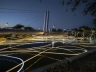 Grimanesa Amoros Golden Waters Scottsdale Soleri Bridge light sculpture installation