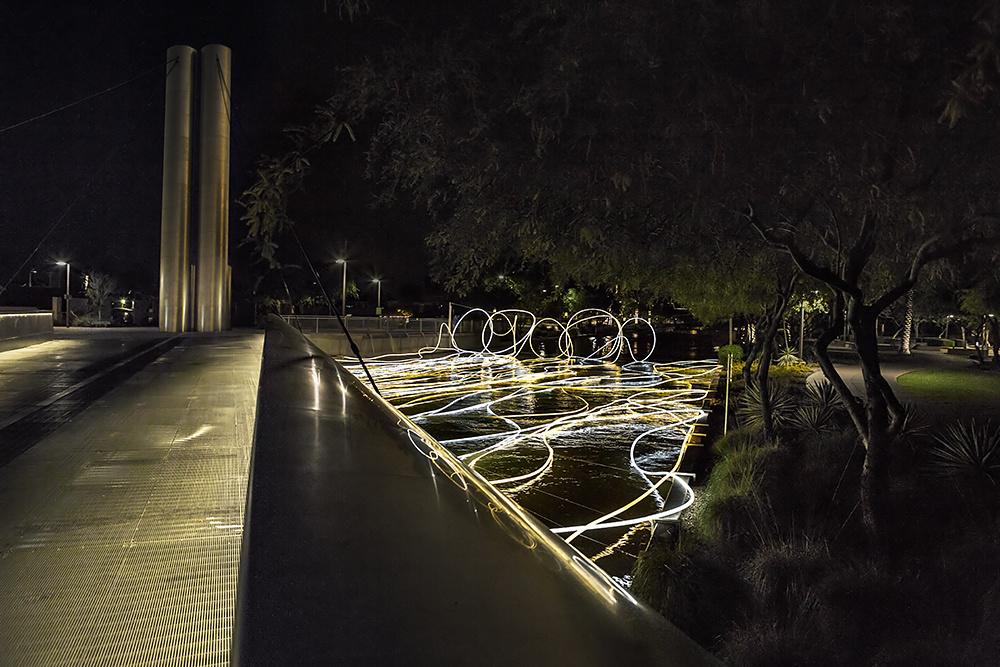 Grimanesa Amoros Golden Waters Scottsdale Soleri Bridge