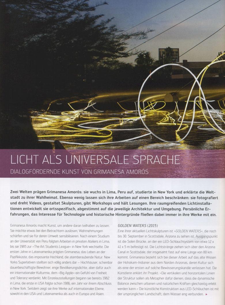 Grimanesa Amoros LICHT Magazine Golden Waters Article