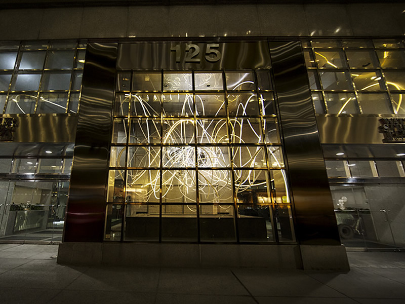 grimanesa amoros lighting sculpture breathless maiden lane in the new york financial district