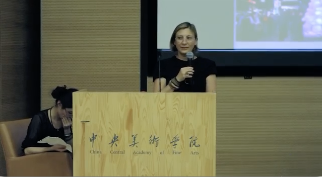 grimanesa amoros gives a lecture at the CAFA Museum China Central Academy of Fine Arts