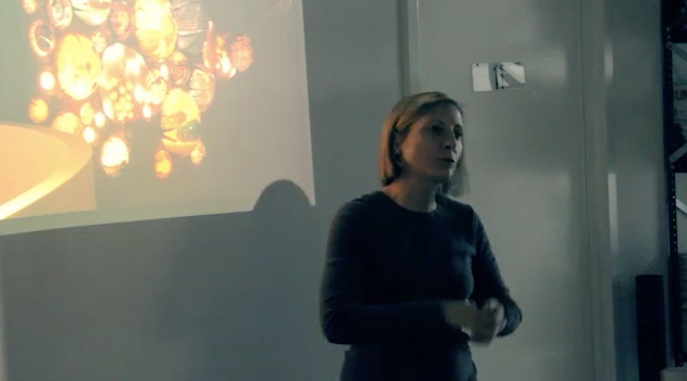 grimanesa amoros gives a lecture at Location one