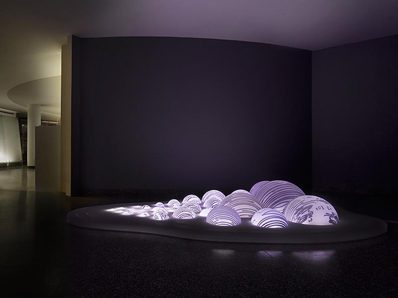 grimanesa amoros light sculpture installation light between the islands Rutgers University