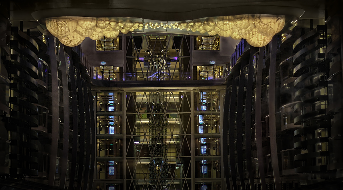 grimanesa amoros racimo light installation at allure of the seas