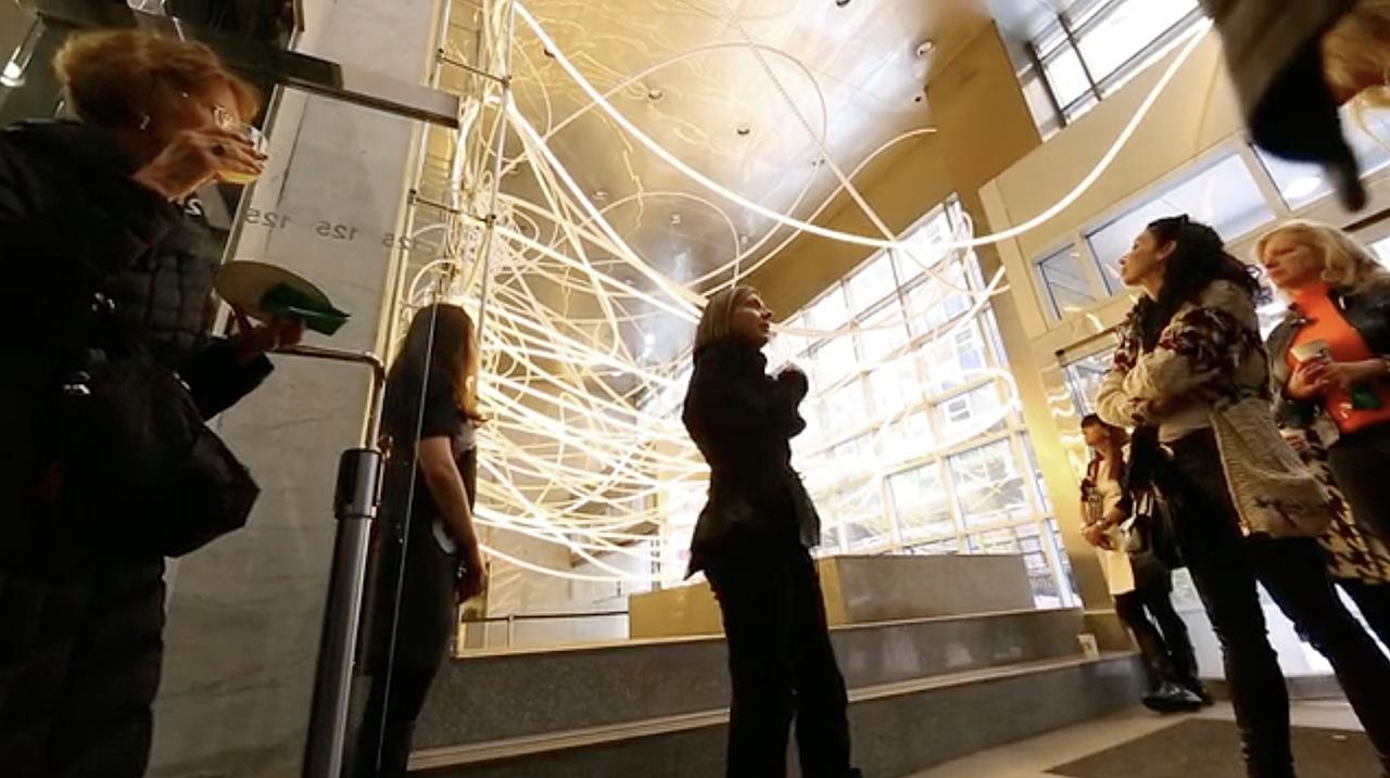 Grimanesa Amoros armory show breathless maiden lane light installation