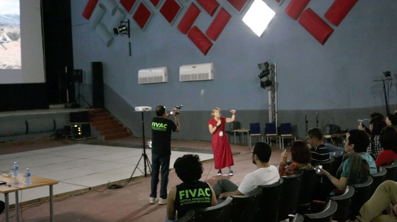 grimanesa amoros lecture at fivac film festival at Havana cuba