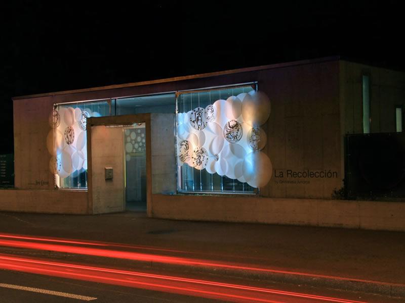 la recoleccion Claramatte Parkhaus Facade light installation grimanesa amoros