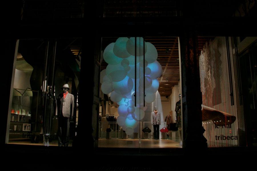 TRIBECA ISSEY MIYAKE HEADQUARTERS AURORA grimanesa amoros light sculpture