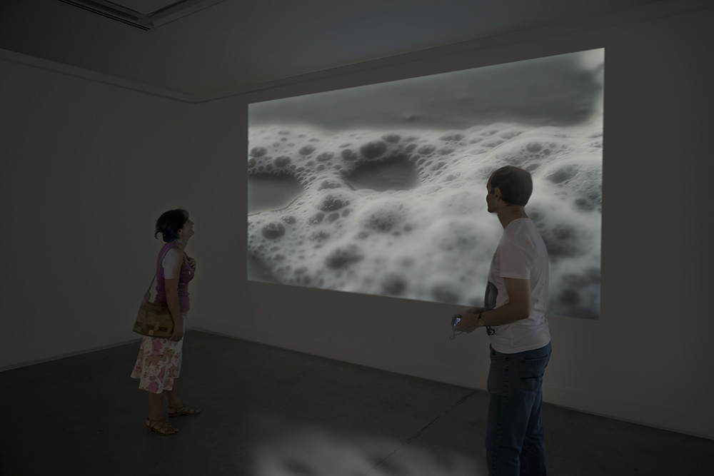 Grimanesa Amoros PUNCTUM CONTRA PUNCTUM II Video Exhibition at the Georgian National Museum's National Gallery