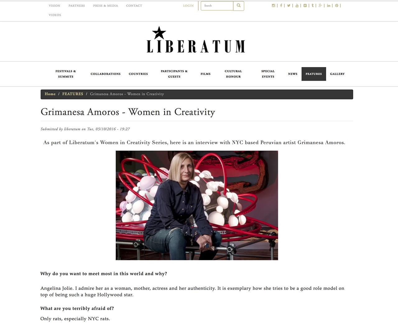 grimanesa amoros Liberatum interview