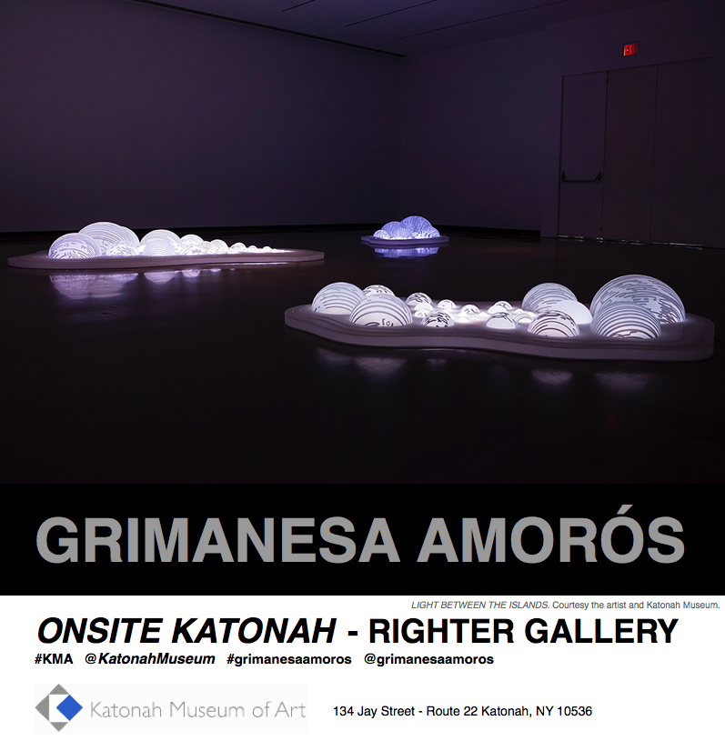 grimanesa amoros light sculpture installation light between the islands at the katonah museum