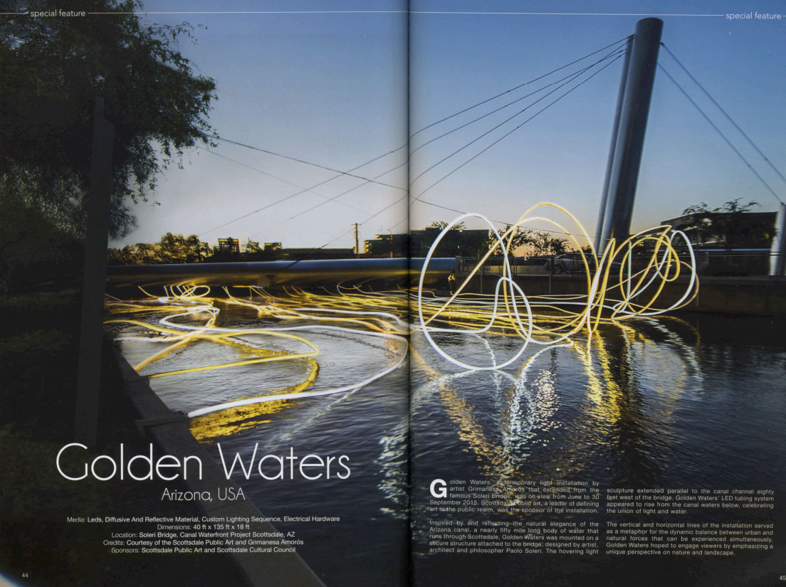 Lighting Today Magazine Golden Waters Article about Grimanesa Amoros