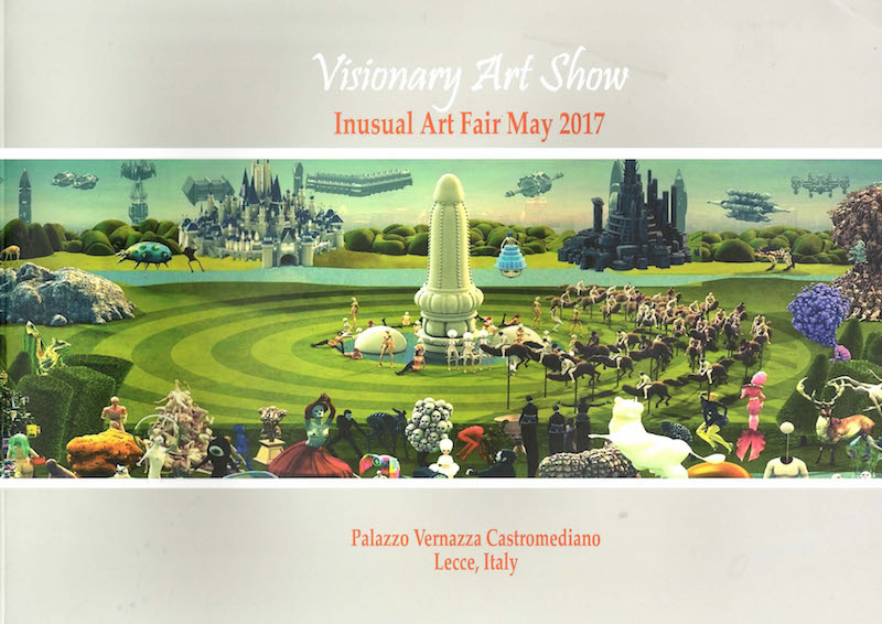 Grimanesa Amoros Visionary Art Show Exhibition Insual Art Fair May 2017 Palazzo Vernazza Castromediano in Lecce Italy