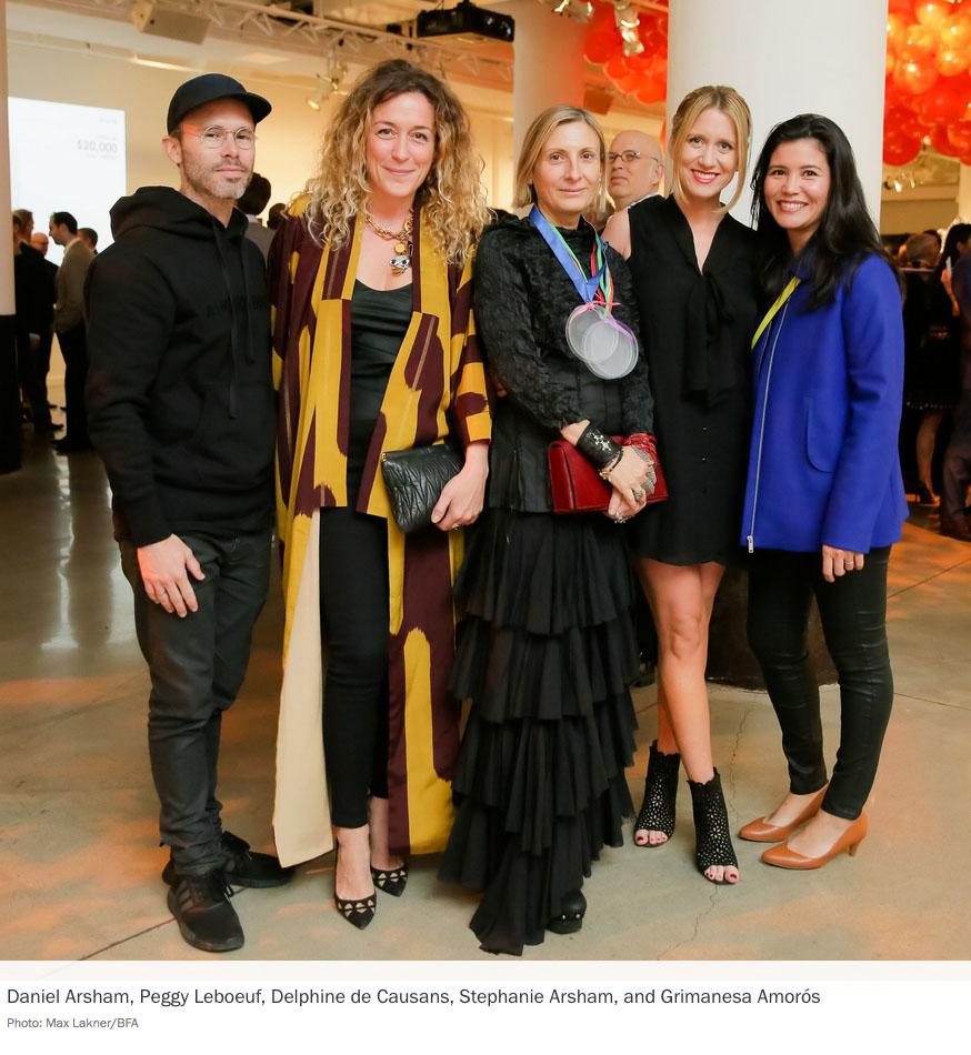 Daniel Arsham, Peggy Leboeuf, Delphine de Causans, Stephanie Arsham, and Grimanesa Amorós, Photo: Max Lakner/BFA