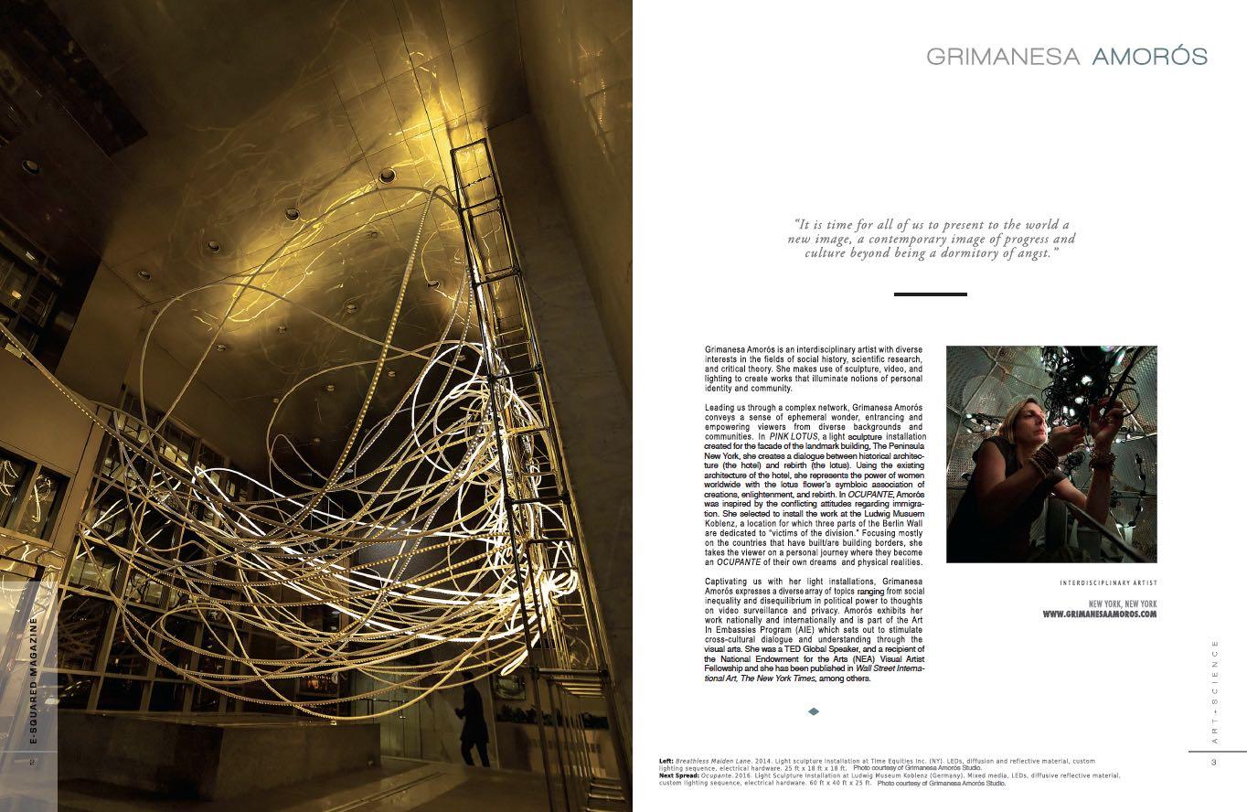 E-Squared Magazine Grimanesa Amoros light artist