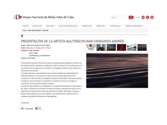 grimanesa amoros Museo Nacional de Bellas Artes de Cuba