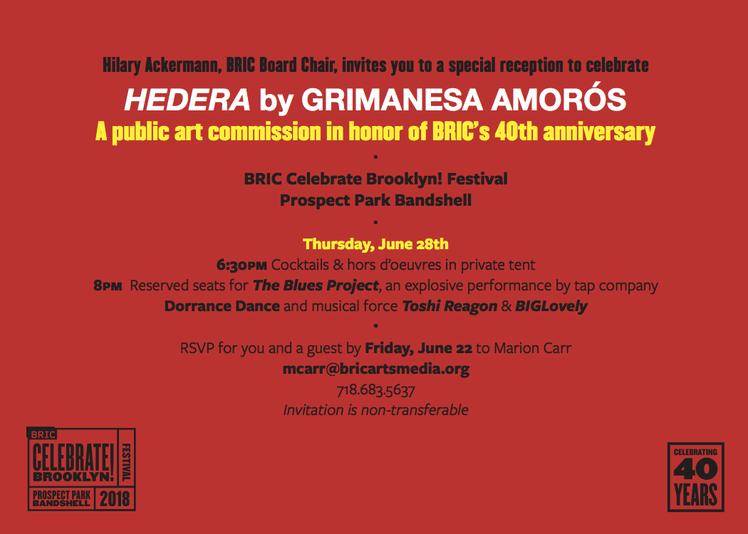 grimanesa amoros special invitation for the BRIC Celebrate Brooklyn! Festival Prospect Park Bandshell