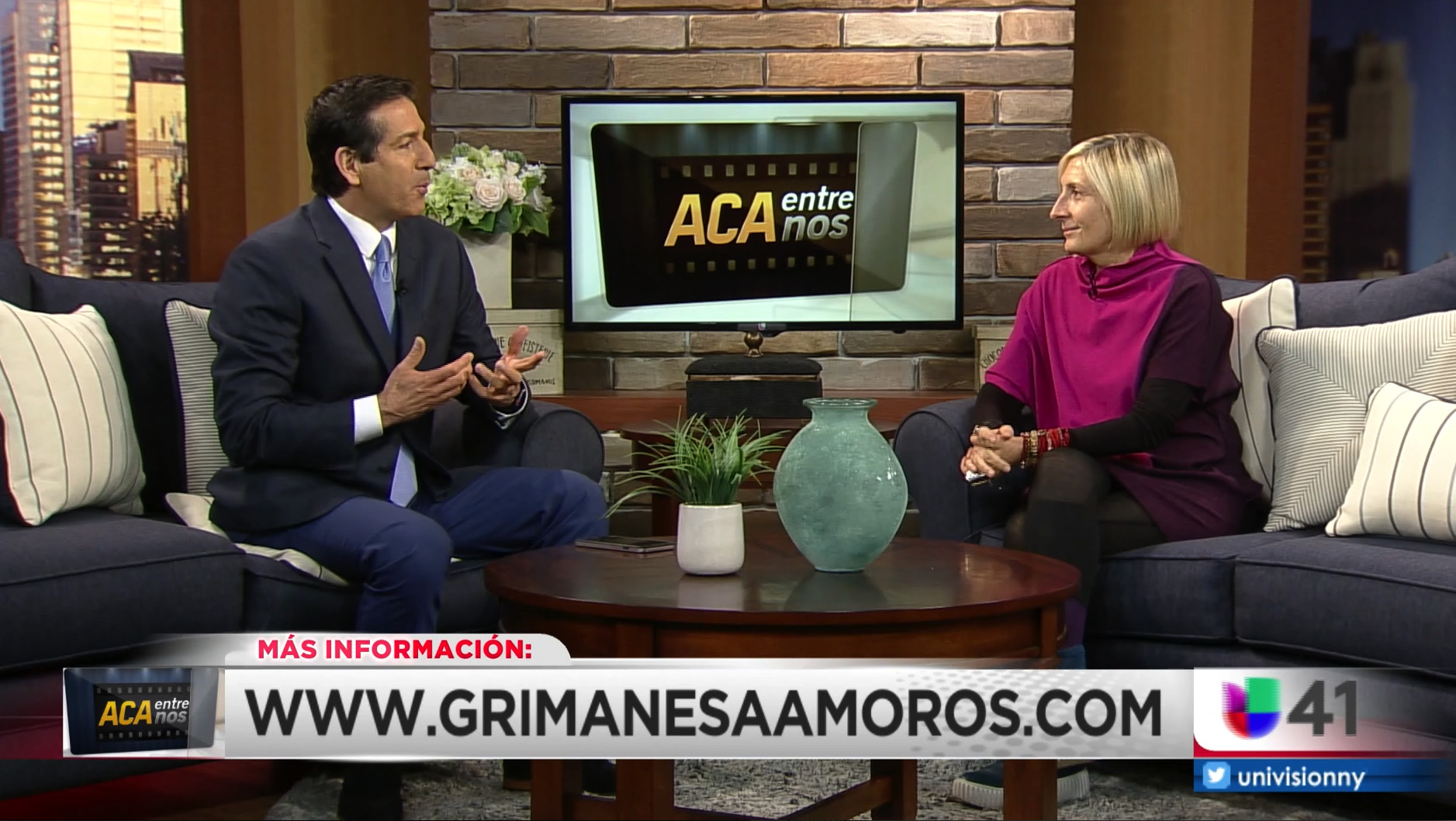 grimanesa amoros interview with Víctor Javier Solano as part of ACA Entre Nos