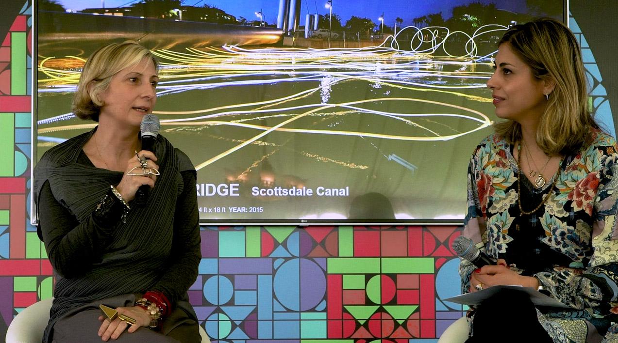 grimanesa amoros gives an artist talk for the Culture Summit in Abu Dhabi Dubai