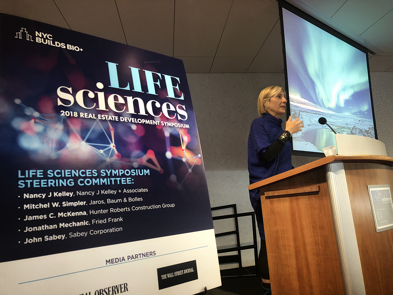 grimanesa amoros gives a lecture for the Life Sciences Symposium