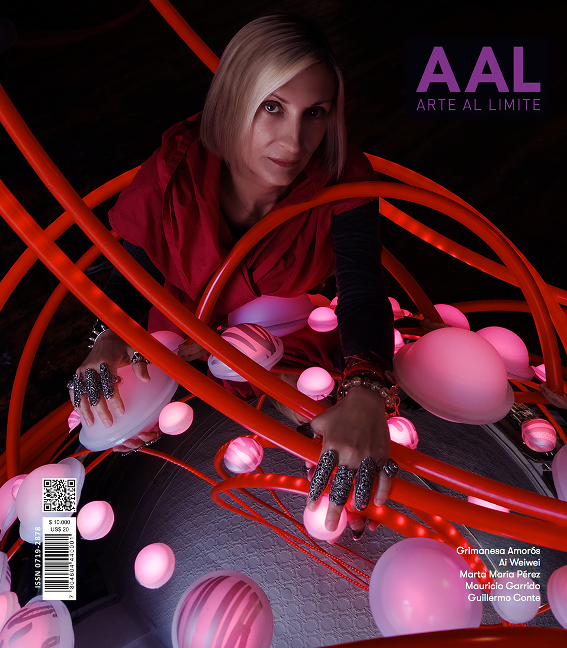 grimanesa amoros arte al limite revista 92 cover feature light artwork lotus