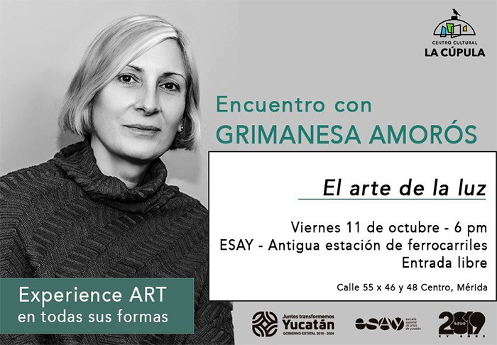 grimanesa amoros lecture at Centro cultural la cupola