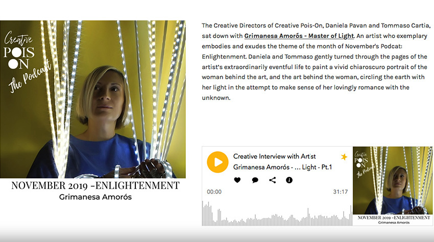 grimanesa amoros interview at creative pois-on podcast