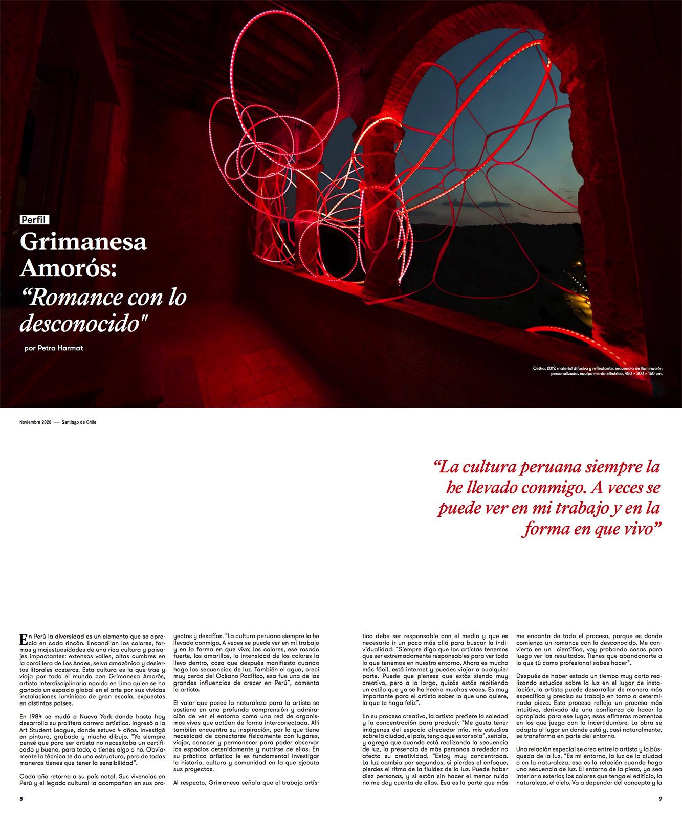 grimanesa Amoros feature arte al limite issue 128