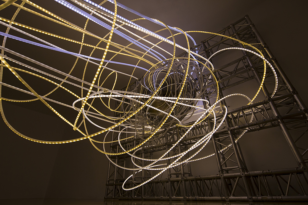grimanesa amoros lighting sculpture ocupante at the ludwig museum